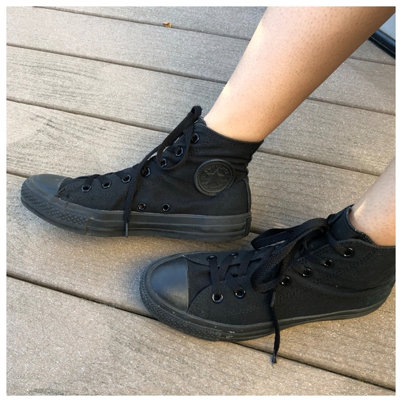 all black converse high tops womens